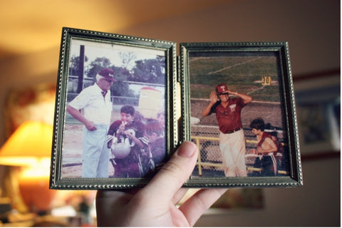 childhood photos with family