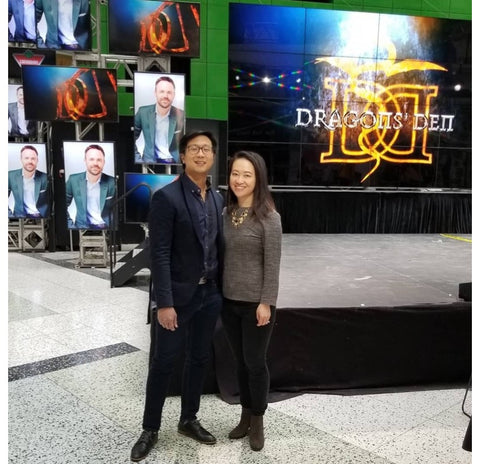 Charlene & Vincent from EATABLE at the Season 14 Dragon's Den filming