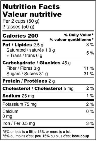 Poppin Peach Bellini - Nutrition Label