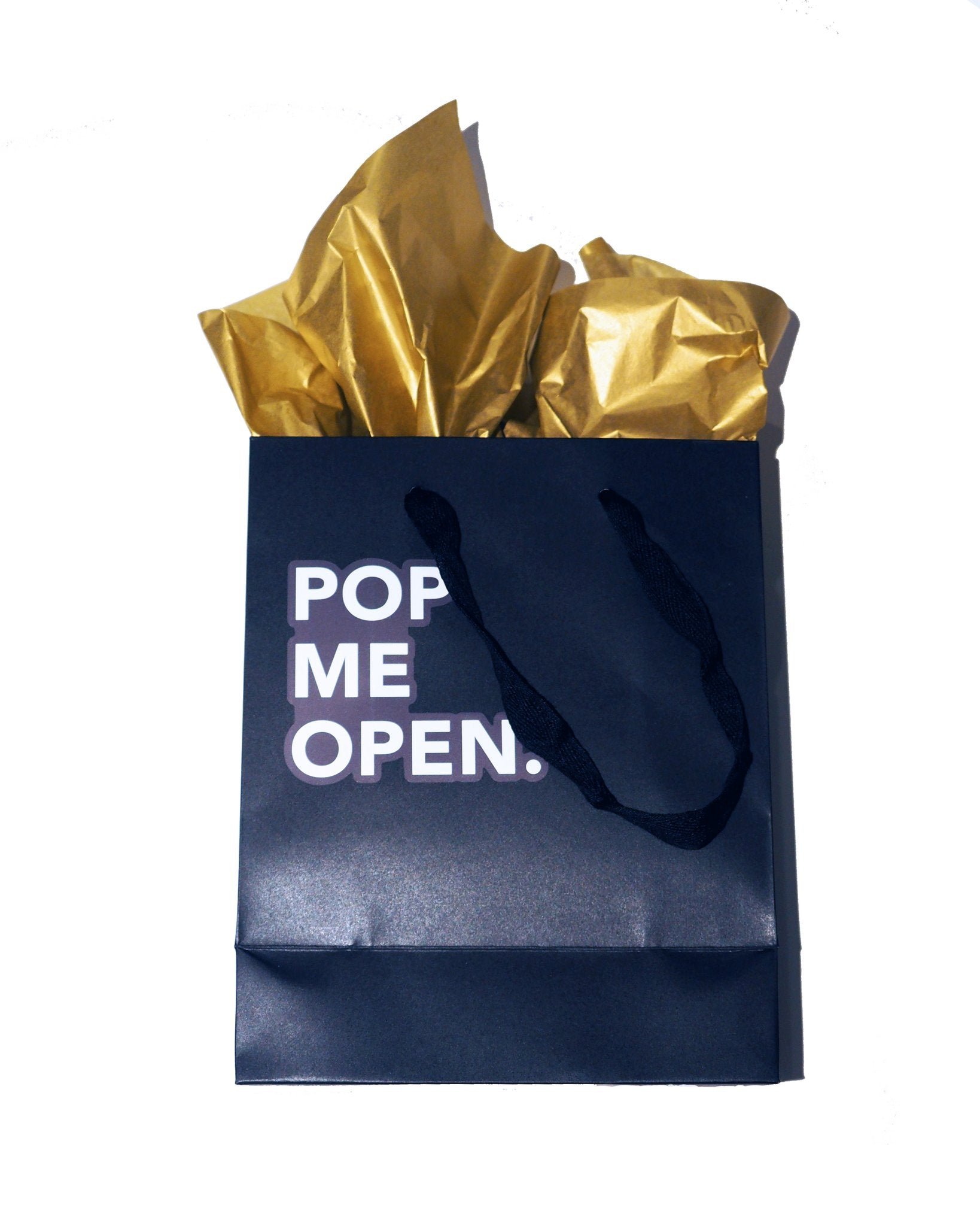 Matte Black Gift Bag + Gold Tissue Paper - EATABLE Popcorn