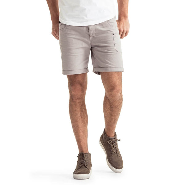 Mens-Chino-Short-Grey-Front-View