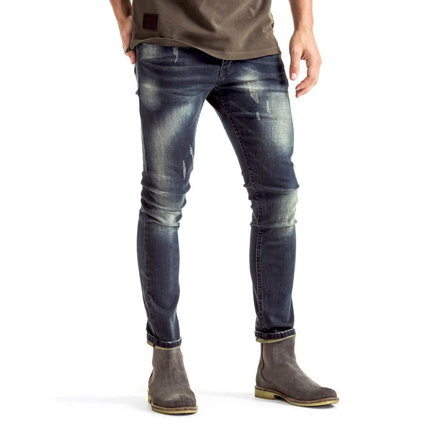 Mens-Denim-Jeans-Slimfit-Blue-Grey-Front-View