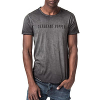 Sergeant Logo Printed T-Shirt - Washed Black