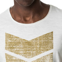 Mens-T-shirt-Tee-White-Front-View