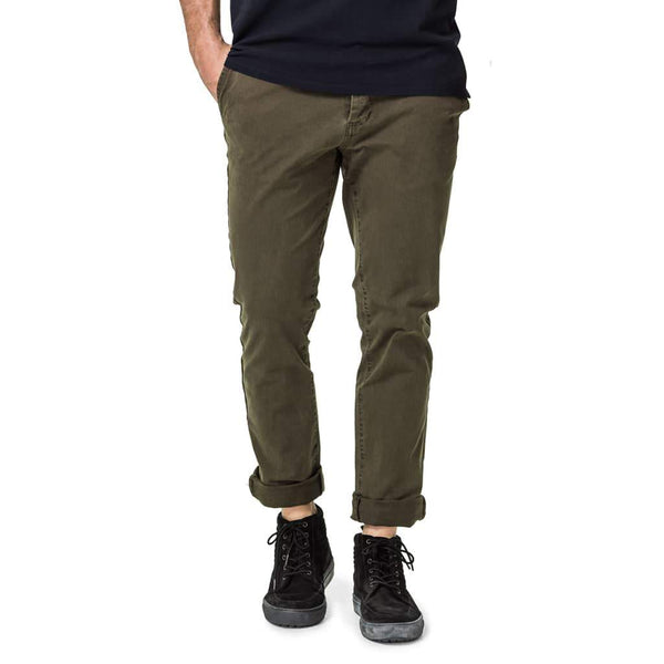 Trigger Stovepipe Chino Pants - Olive