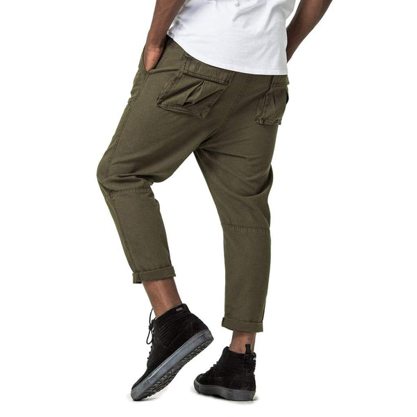 d18615d3cb5088 ... Mens-Cropped-Pants-Olive-Green-Back-View ...