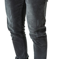 Feather Slim Fit Denim Jeans - Mid Black