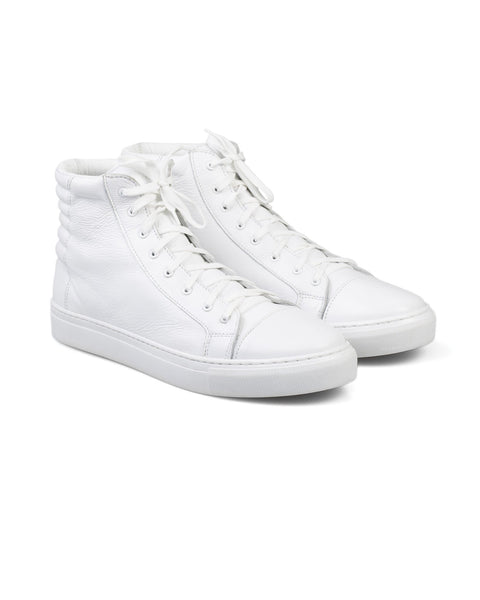 SPCC | Sergeant Pepper Leather High Top Sneaker | White