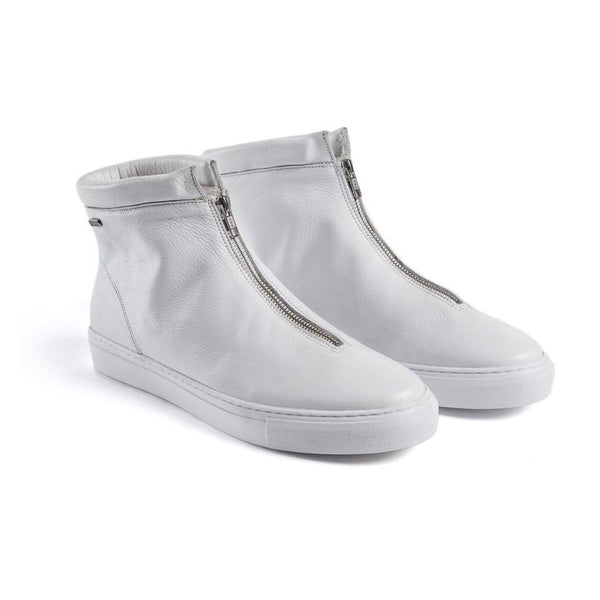 Goran Zip Boot - White