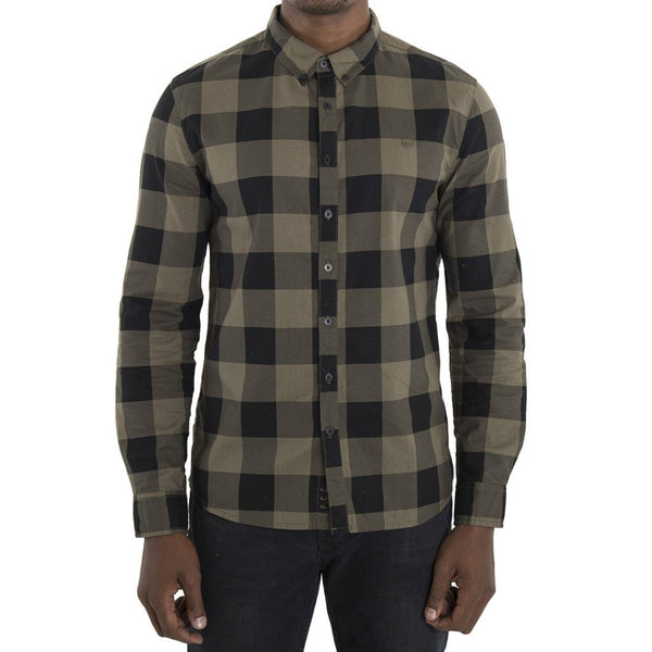 SPCC | Sergeant Pepper | Button-up | Long Sleeve| 100% Cotton | Check Shirt