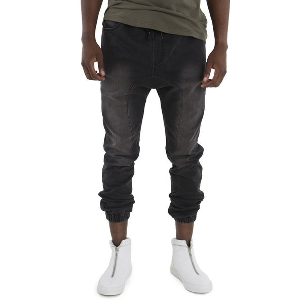 SPCC | Sergeant Pepper Denim Joggers | Elasticated | Drop crotch | Black