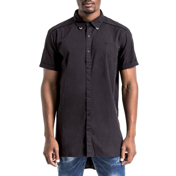 SPCC | Sergeant Pepper Shirt | Black | Longer Length | Dolphin Hem