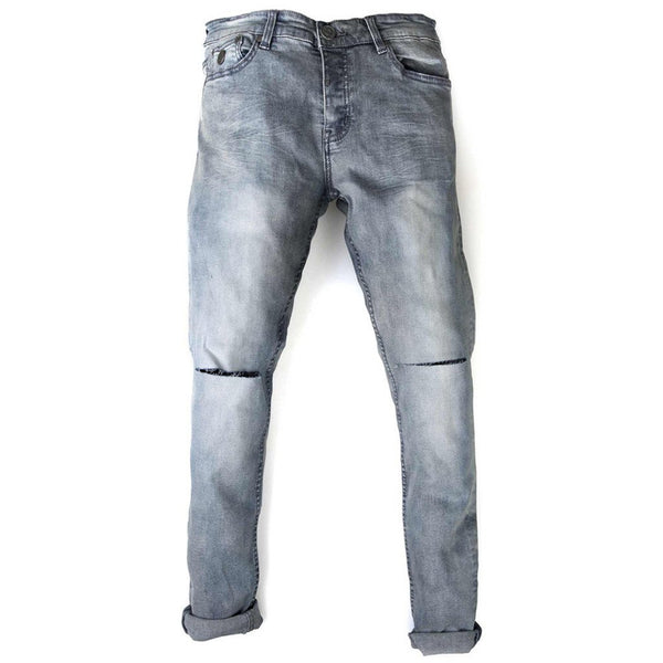 Trench Skinny Jeans - Bleach Wash