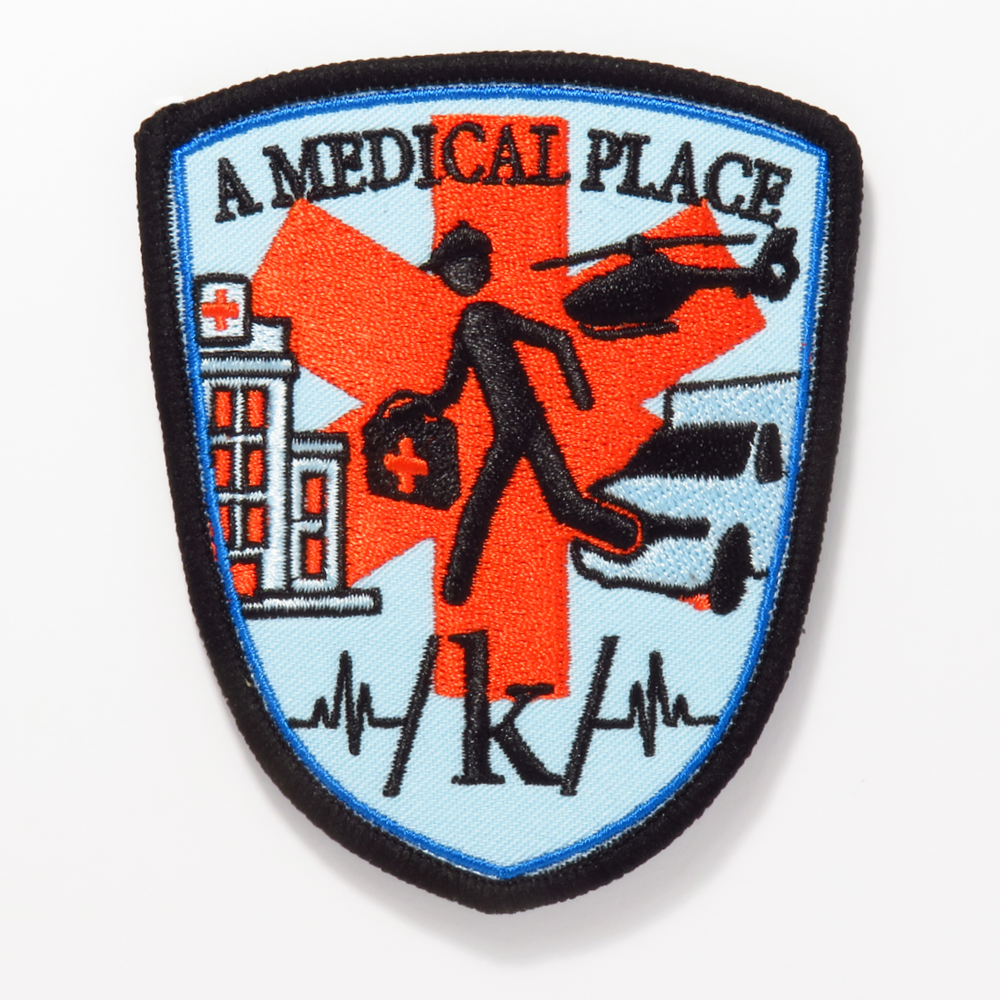 "/k/ ""A Medical Place"" Embroidered Patch"