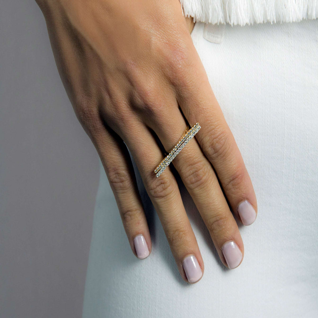 FINAL SALE- Line Up | Clear Bar Ring