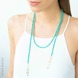 FINAL SALE- MOP Lariat Necklace