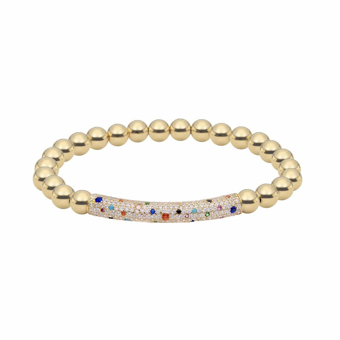 Raise the Bar | Rainbow Thick Charm Bracelet