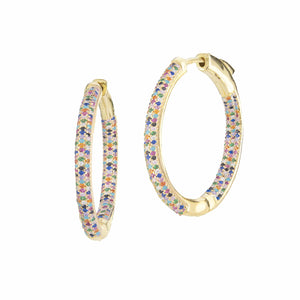 Frosted | Small Rainbow Hoop Earrings