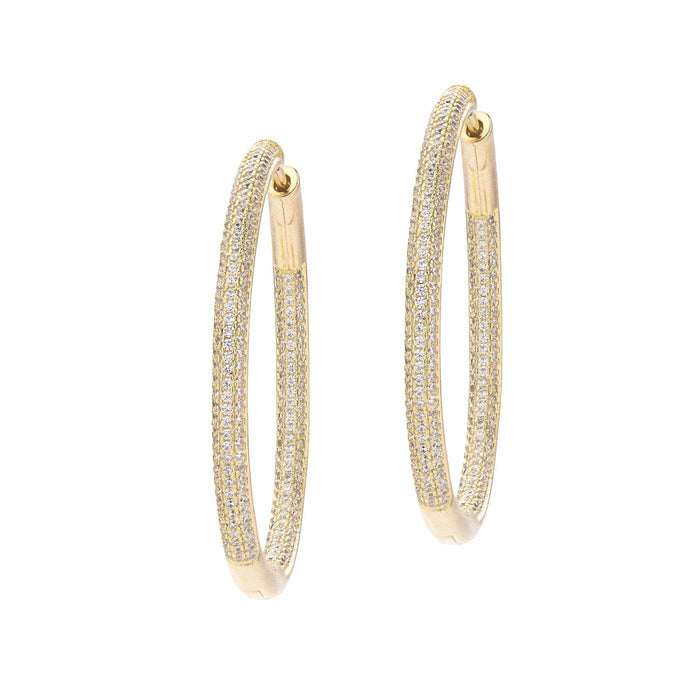 Frosted | Large Hoop Earrings