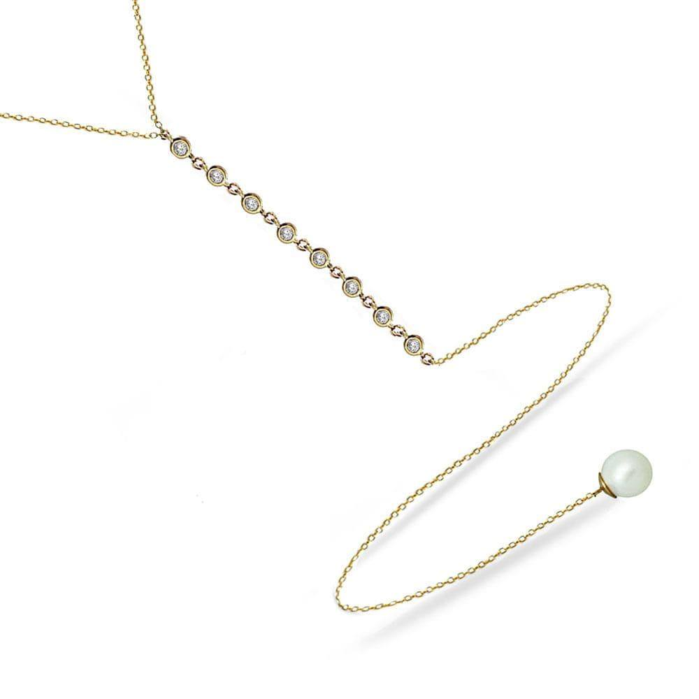 FINAL SALE- Modern Pearls | Y Necklace