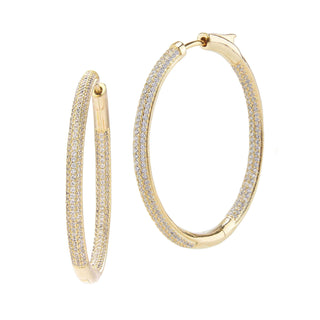 Frosted Large Hoop Earrings