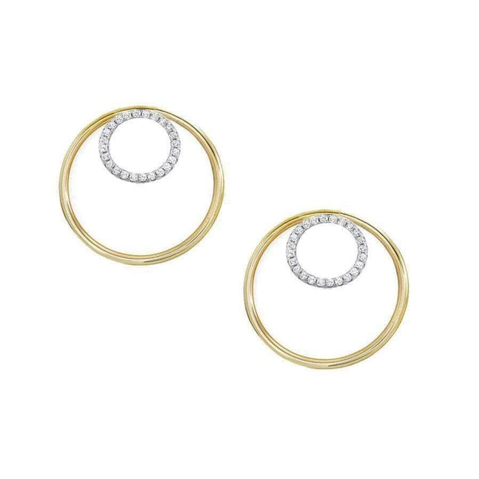 Inner Circle Gold Hoop Earrings