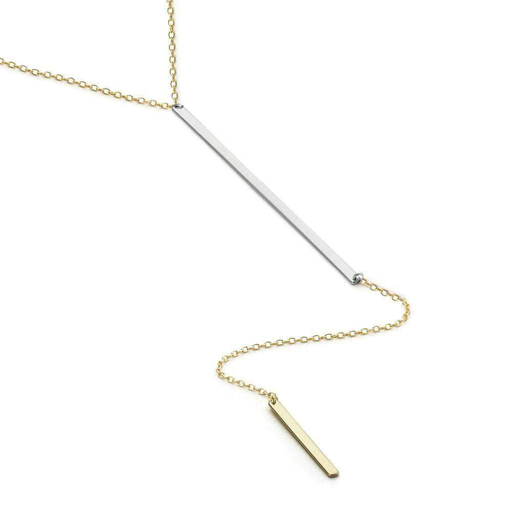 FINAL SALE- Line Up | Gold + Silver Y Necklace