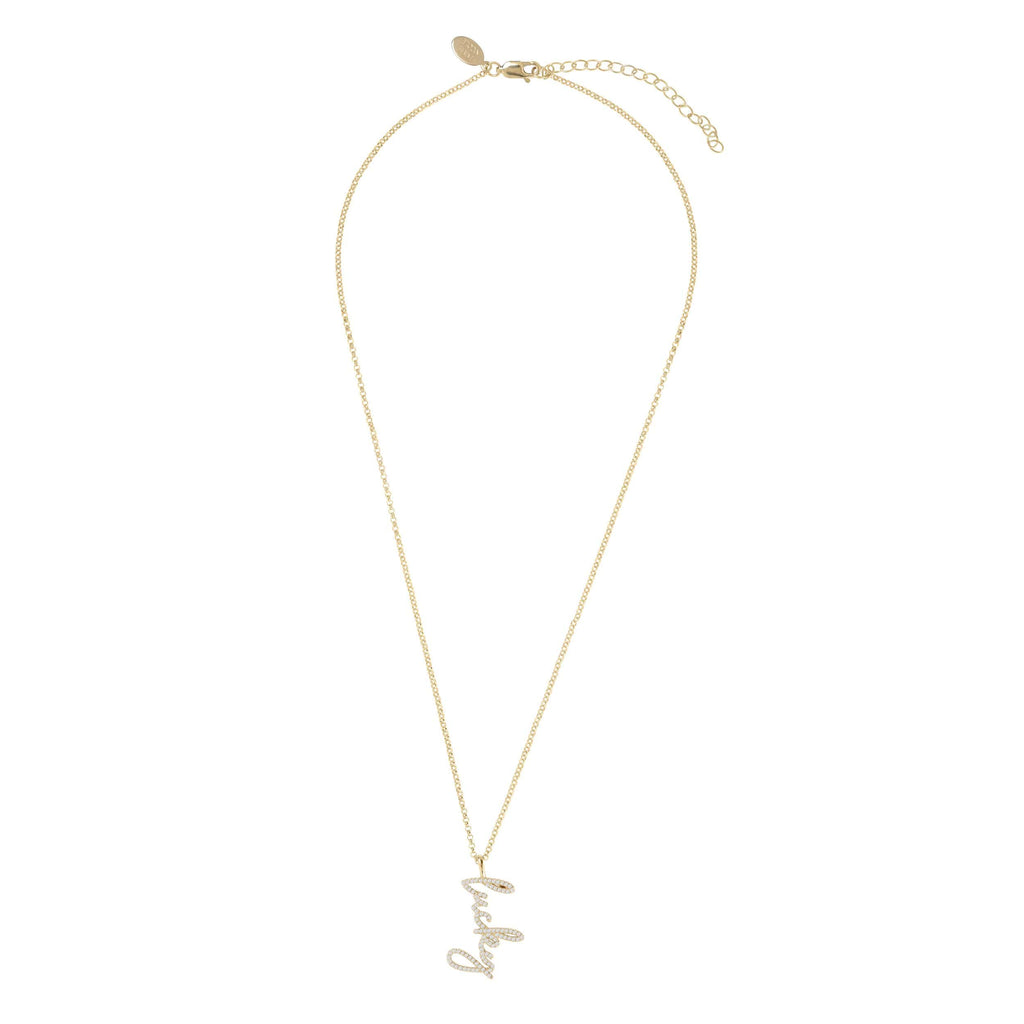Lucky | Script Necklace
