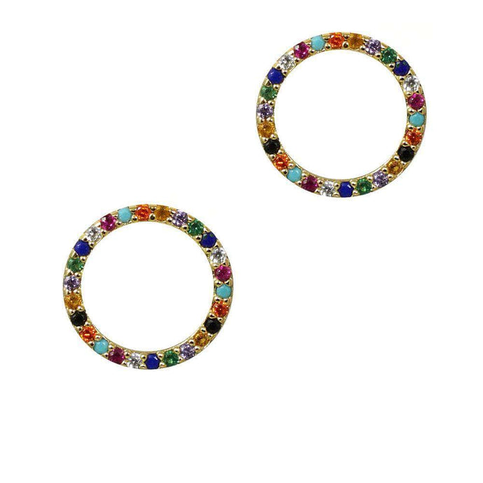 Over the Rainbow | Circle Earrings