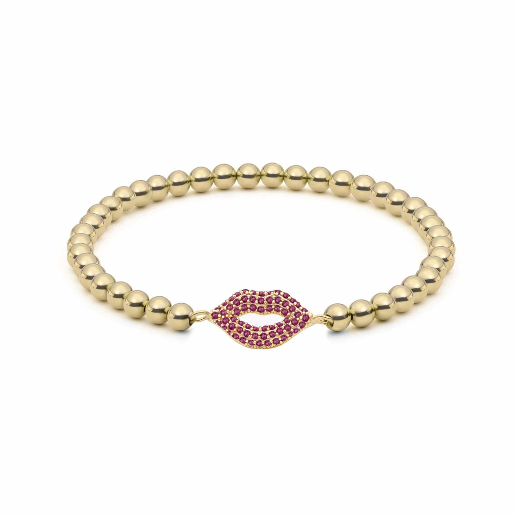 Pucker Up | Ruby Charm Bracelet