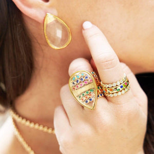 Rock Candy | Quartz Teardrop Ring