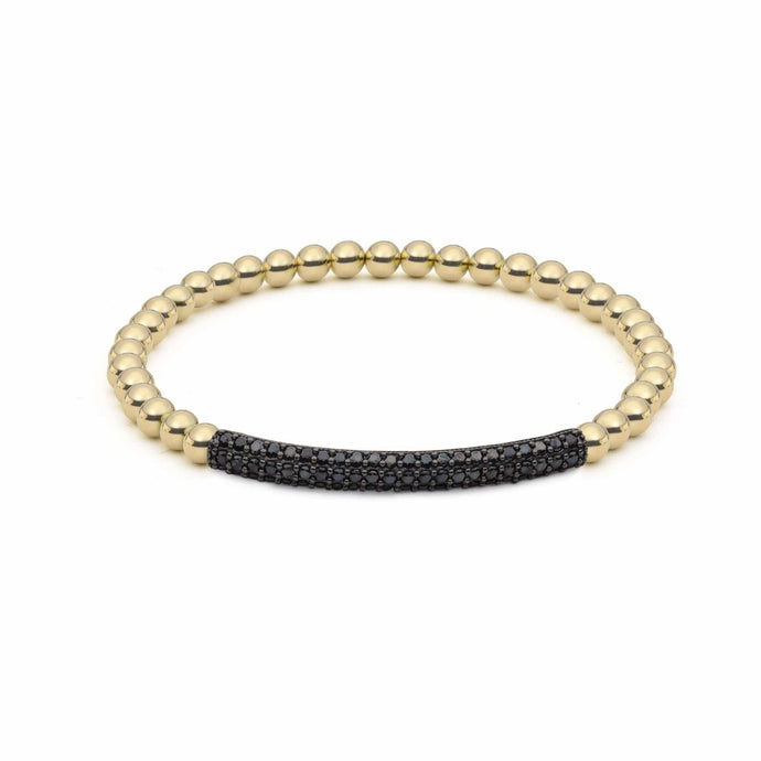 Raise the Bar | Black Charm Bracelet