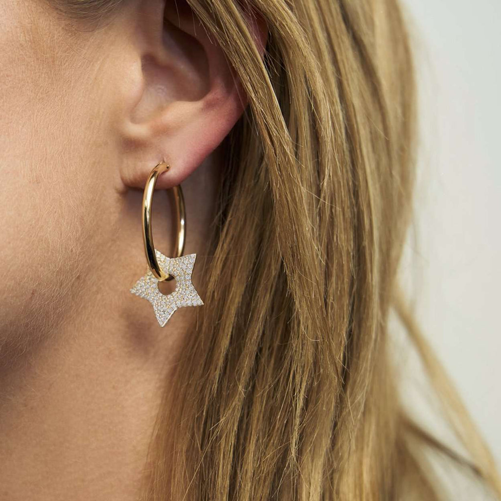 Crazy in Love | Heart + Star Hoop Earrings