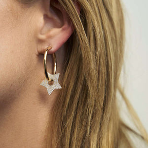 Crazy in Love | Star Hoop Earrings