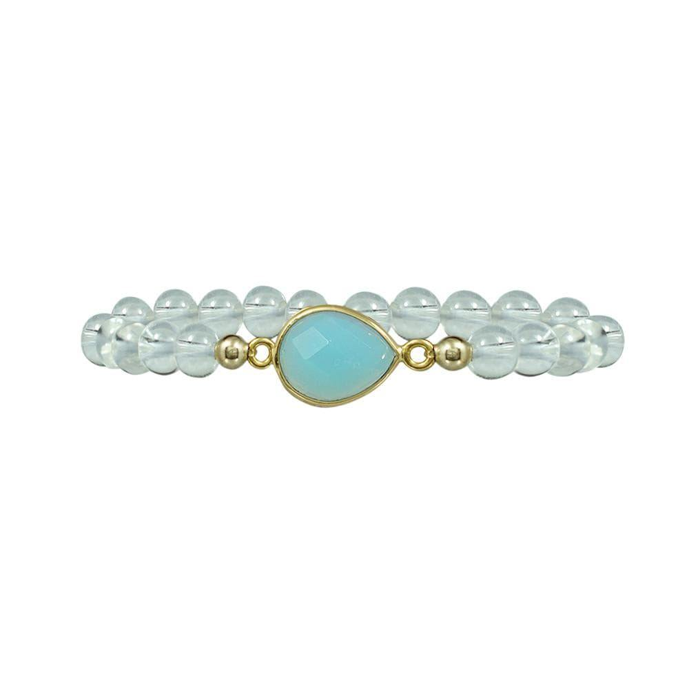 FINAL SALE- Quartz with Stone Bracelet