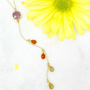 FINAL SALE- Warm Hues Y Necklace
