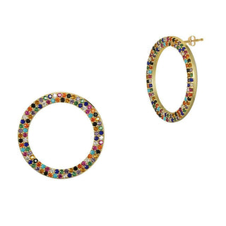 Over the Rainbow | Open Face Hoop Earrings