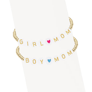 Girl or Boy Mom | Initial Bracelet