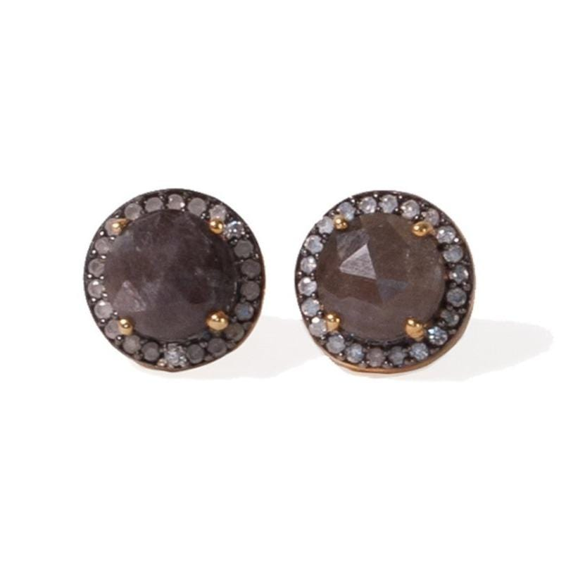 FINAL SALE- Sapphire Stud Earrings with CZ