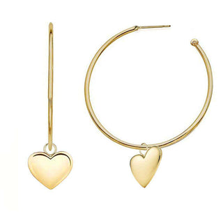 L.O.V.E. | White Hoop Earrings