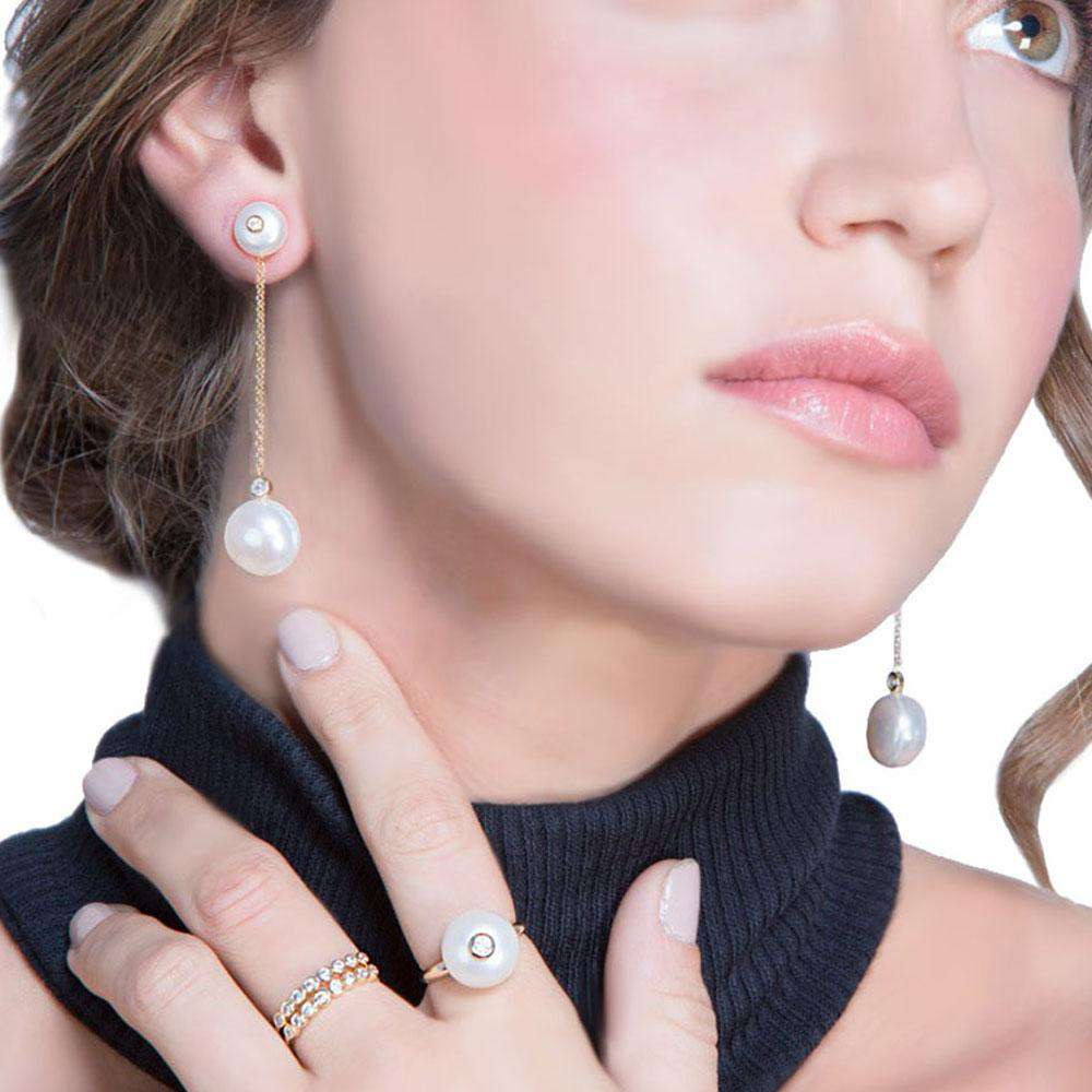 Modern Pearls | Drop Earrings