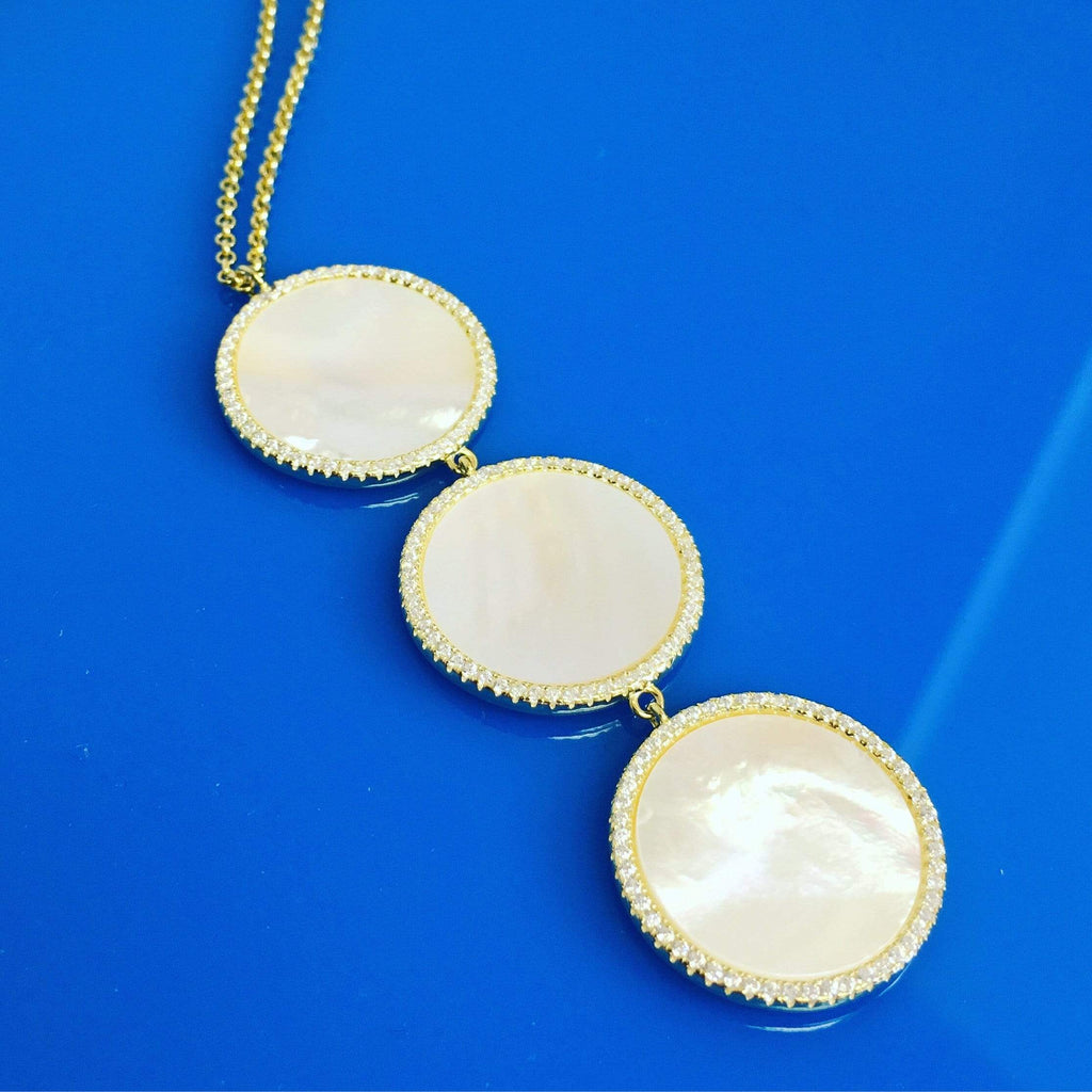 Pearly Whites | Triple Drop Necklace