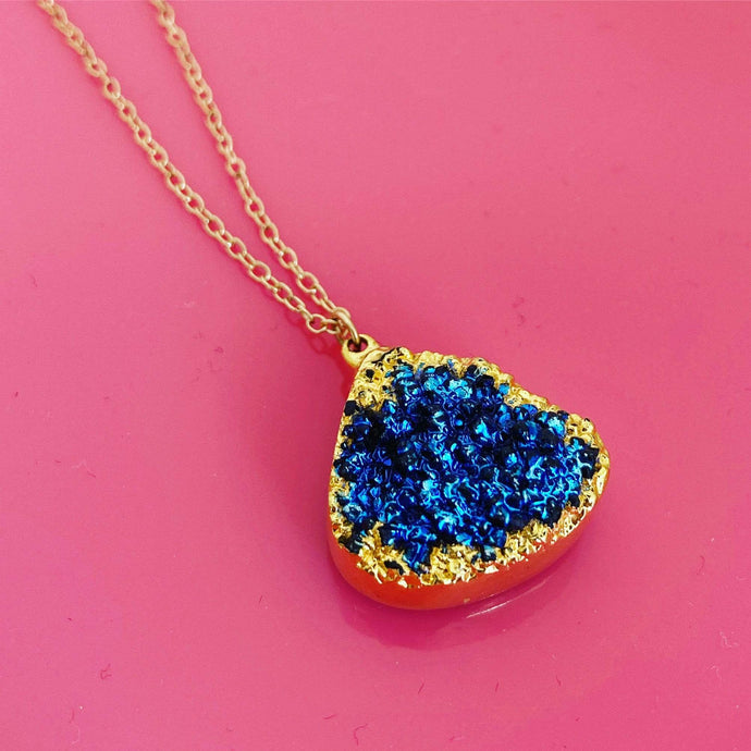 FINAL SALE- Large Druzy Chain Necklace