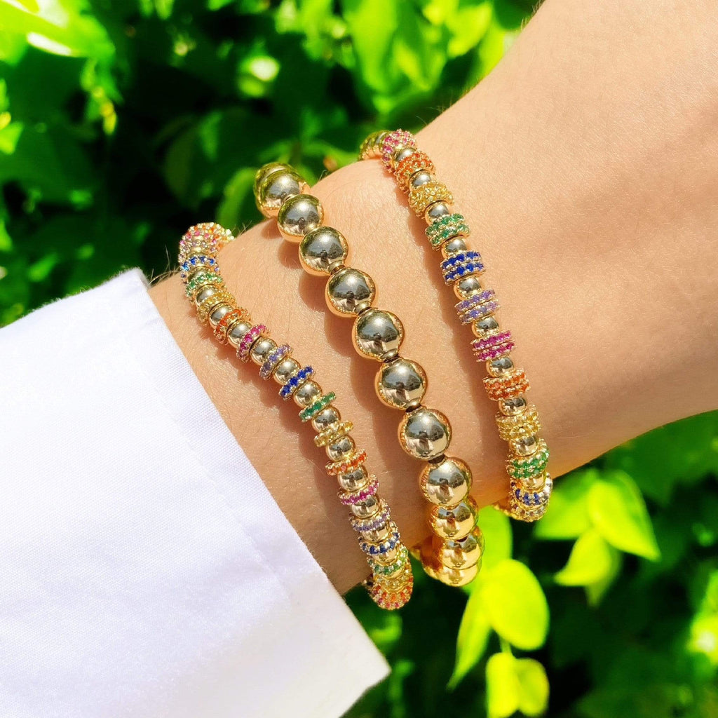 Rainbow Bling Baller | LIMITED EDITION Extra Small Full Bracelet