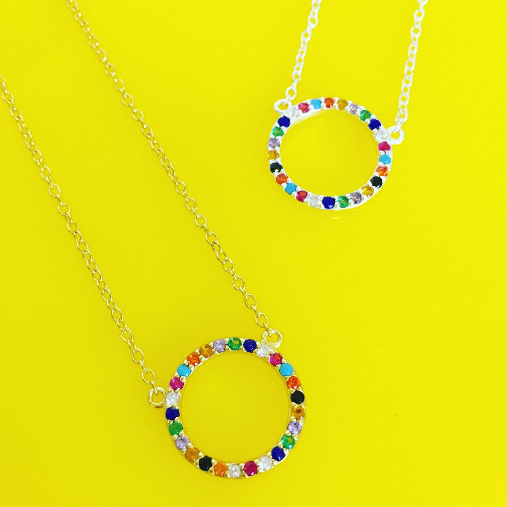 Over the Rainbow | Circle Necklace