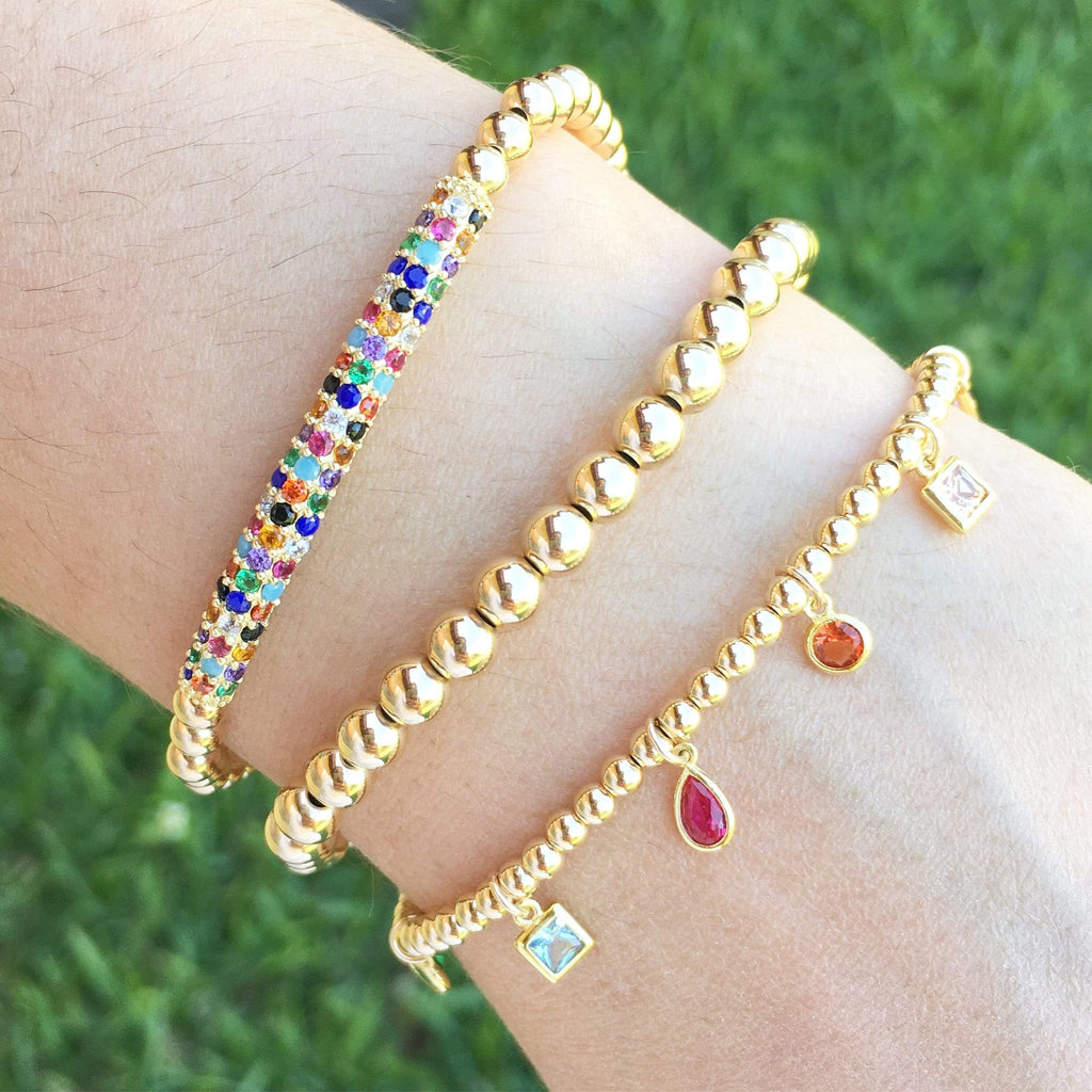 Raise The Bar | Rainbow Charm Bracelet