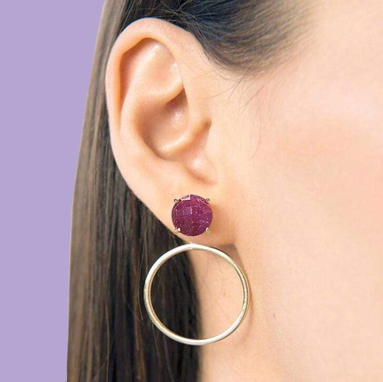 FINAL SALE- Stud with Hoop