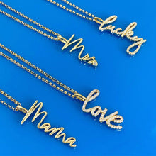 Love | Script Necklace