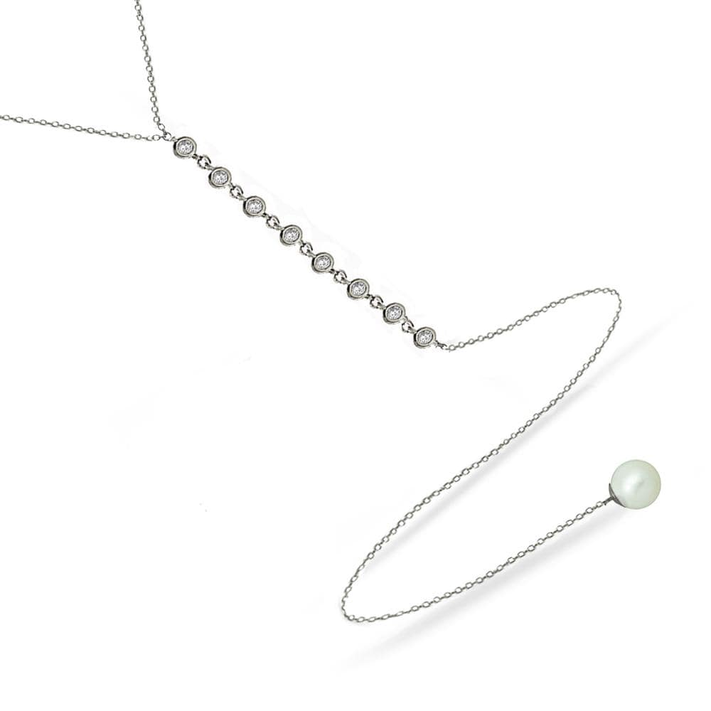 Modern Pearls | Y Necklace
