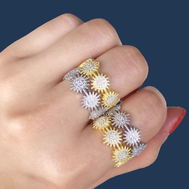 Starburst | Band Ring